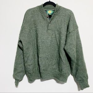🛍Cabela's Dark Green Lined Pullover Sweater, XL